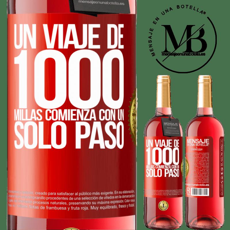24,95 € Envoi gratuit | Vin rosé Édition ROSÉ Un voyage de mille kilomètres commence par une seule étape Étiquette Rouge. Étiquette personnalisable Vin jeune Récolte 2020 Tempranillo