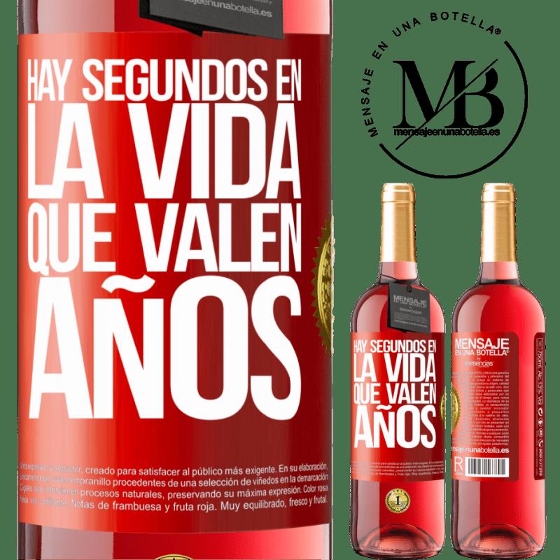24,95 € Envoi gratuit | Vin rosé Édition ROSÉ Il y a des secondes dans la vie qui valent des années Étiquette Rouge. Étiquette personnalisable Vin jeune Récolte 2020 Tempranillo