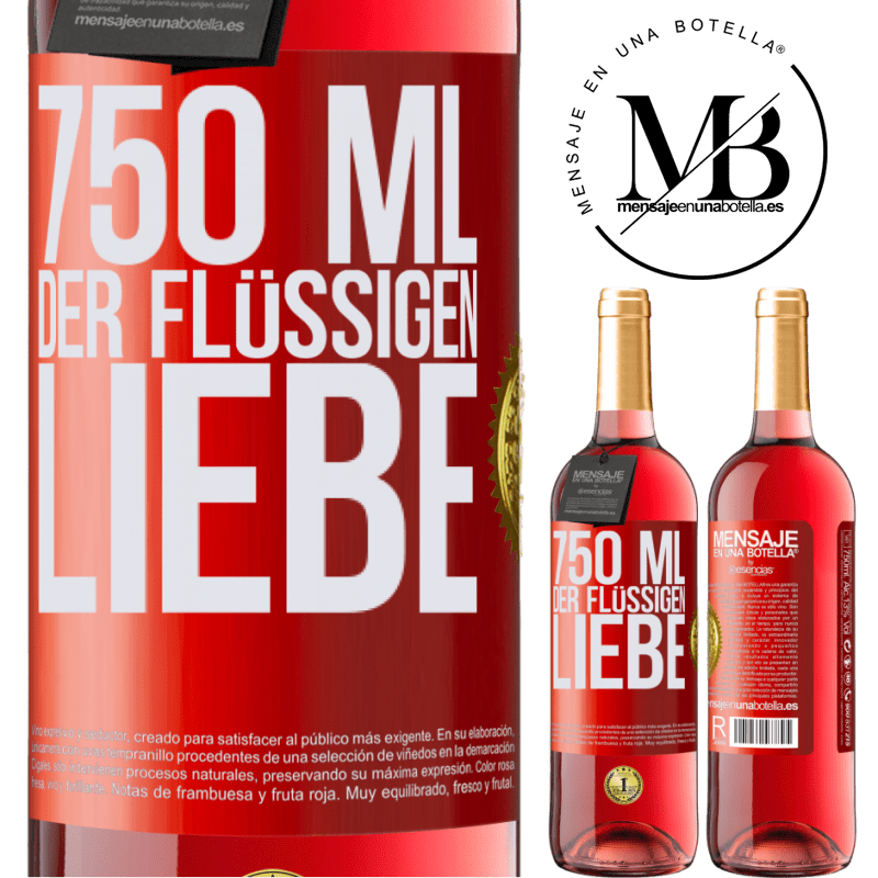 24,95 € Kostenloser Versand | Roséwein ROSÉ Ausgabe 750 ml der flüssigen Liebe Rote Markierung. Anpassbares Etikett Junger Wein Ernte 2020 Tempranillo