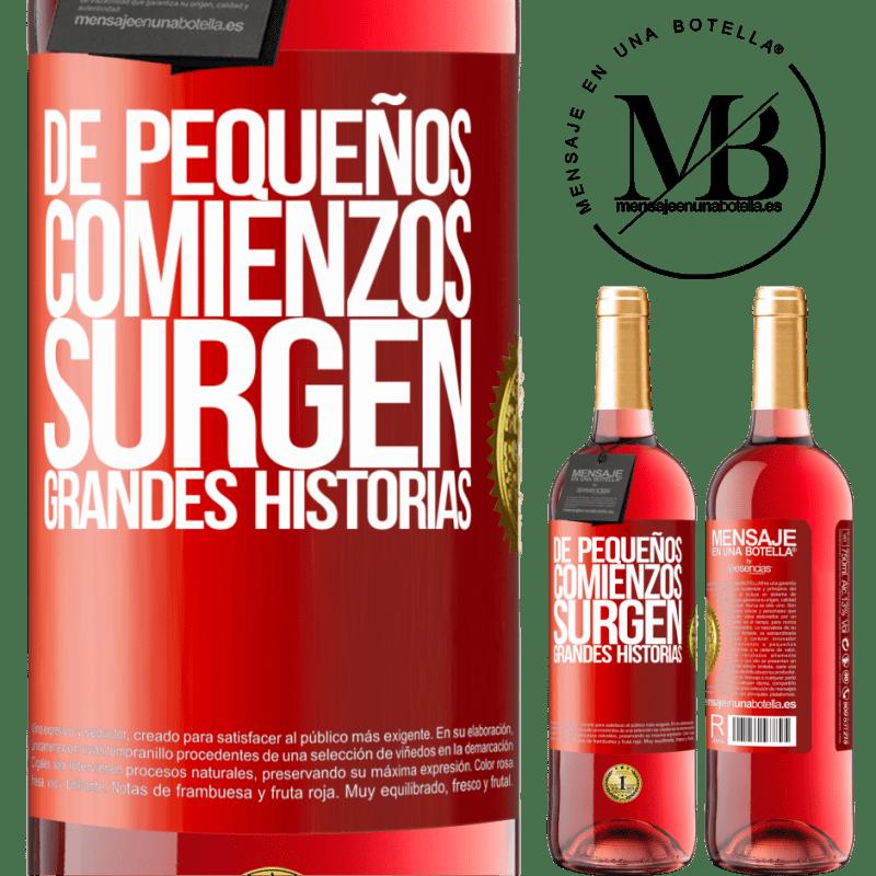 24,95 € Envoi gratuit   Vin rosé Édition ROSÉ De petits débuts surgissent de grandes histoires Étiquette Rouge. Étiquette personnalisable Vin jeune Récolte 2020 Tempranillo