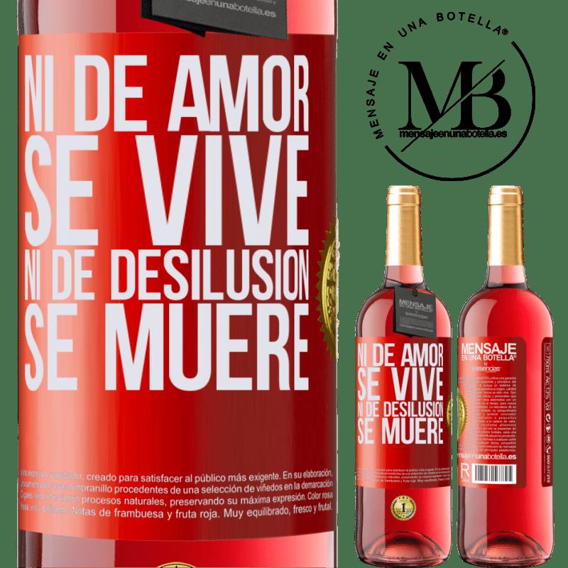 24,95 € Envoi gratuit | Vin rosé Édition ROSÉ Ni l'amour ne vit, ni la déception ne meurt Étiquette Rouge. Étiquette personnalisable Vin jeune Récolte 2020 Tempranillo