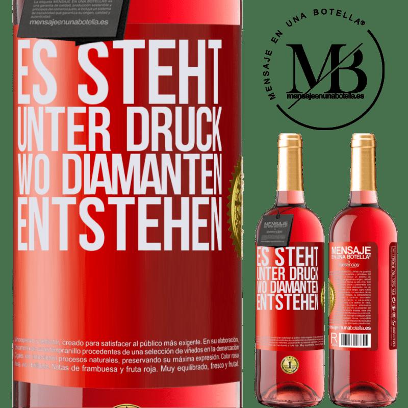 24,95 € Kostenloser Versand   Roséwein ROSÉ Ausgabe Es steht unter Druck, wo Diamanten entstehen Rote Markierung. Anpassbares Etikett Junger Wein Ernte 2020 Tempranillo