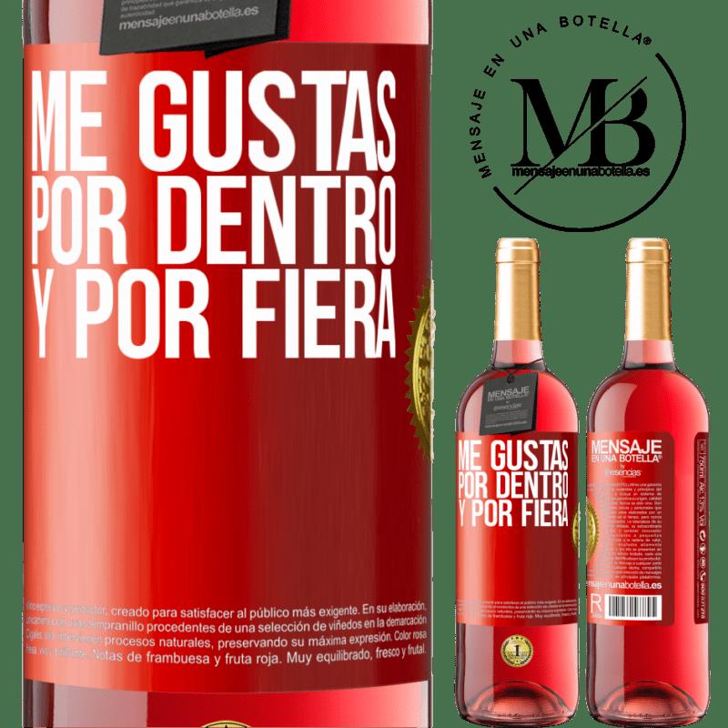 24,95 € Envoi gratuit   Vin rosé Édition ROSÉ Je t'aime à l'intérieur comme à l'extérieur Étiquette Rouge. Étiquette personnalisable Vin jeune Récolte 2020 Tempranillo