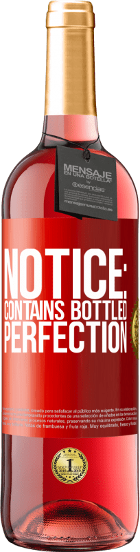 24,95 € Free Shipping   Rosé Wine ROSÉ Edition Notice: contains bottled perfection Red Label. Customizable label Young wine Harvest 2020 Tempranillo
