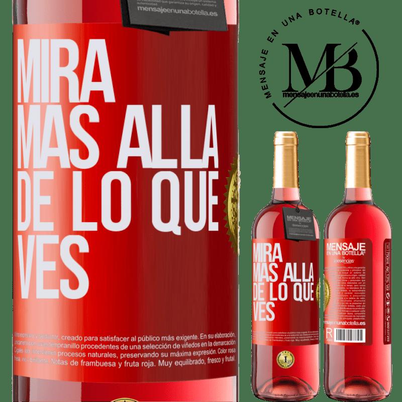 24,95 € Envoi gratuit   Vin rosé Édition ROSÉ Regardez au-delà de ce que vous voyez Étiquette Rouge. Étiquette personnalisable Vin jeune Récolte 2020 Tempranillo