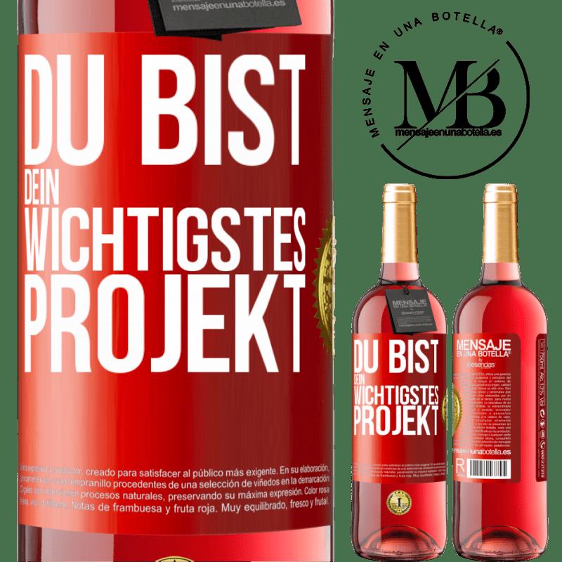 24,95 € Kostenloser Versand | Roséwein ROSÉ Ausgabe Sie sind Ihr wichtigstes Projekt Rote Markierung. Anpassbares Etikett Junger Wein Ernte 2020 Tempranillo