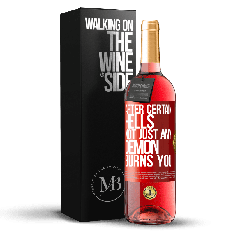 24,95 € Free Shipping   Rosé Wine ROSÉ Edition After certain hells, not just any demon burns you Red Label. Customizable label Young wine Harvest 2020 Tempranillo