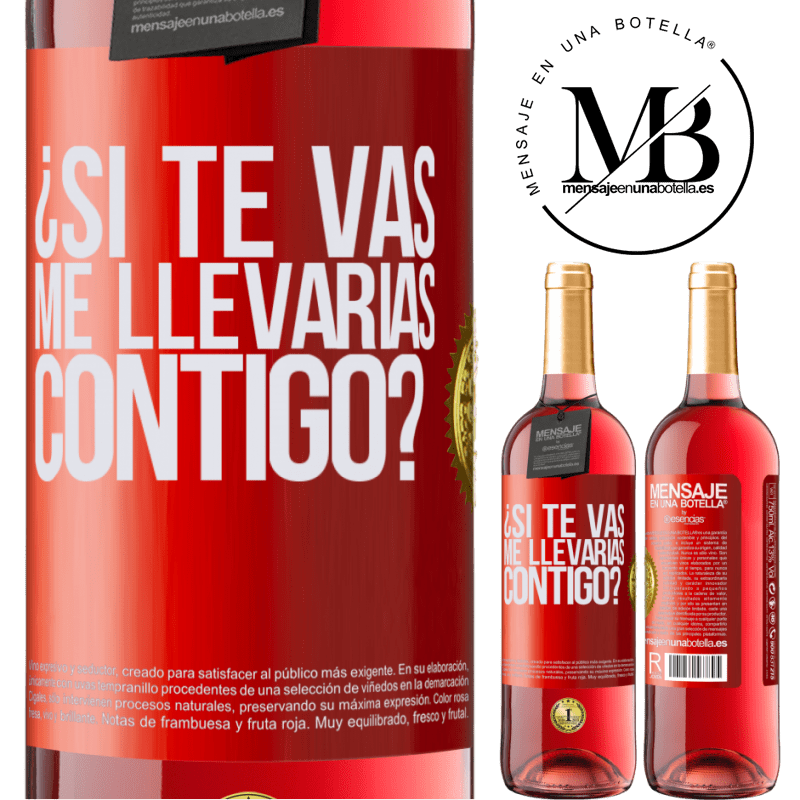 24,95 € Envoi gratuit   Vin rosé Édition ROSÉ si tu partais, m'emmènerais-tu avec toi? Étiquette Rouge. Étiquette personnalisable Vin jeune Récolte 2020 Tempranillo