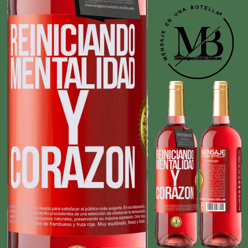 24,95 € Envoi gratuit   Vin rosé Édition ROSÉ Réinitialisation de la mentalité et du cœur Étiquette Rouge. Étiquette personnalisable Vin jeune Récolte 2020 Tempranillo