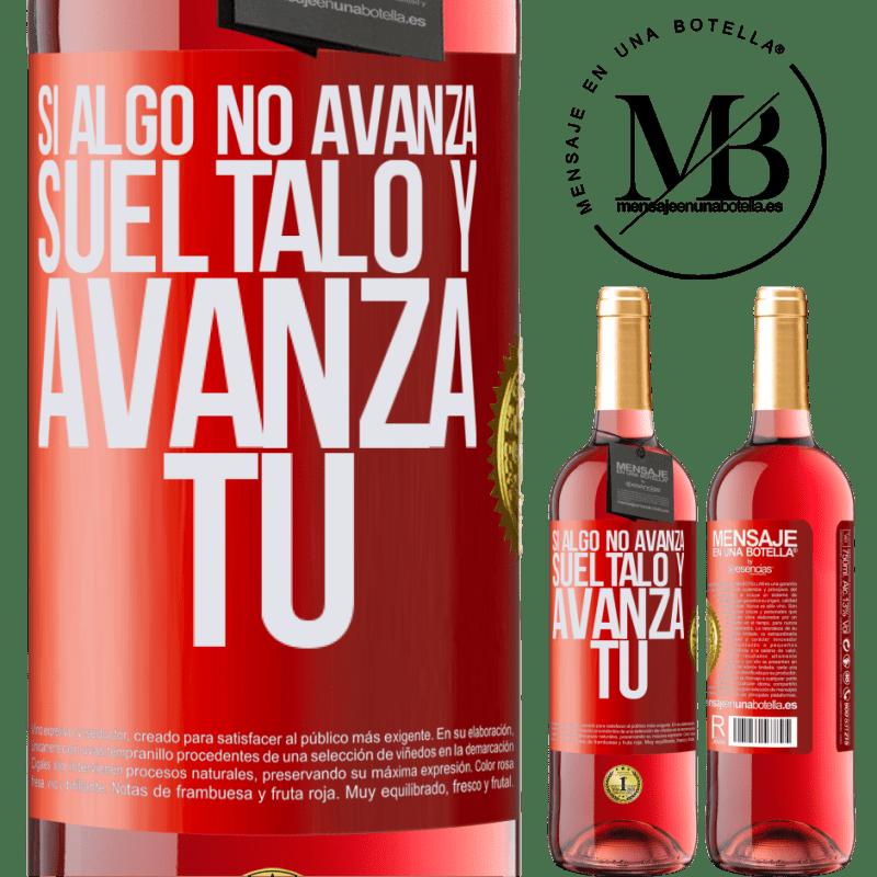 24,95 € Envoi gratuit   Vin rosé Édition ROSÉ Si quelque chose ne progresse pas, relâchez-le et avancez Étiquette Rouge. Étiquette personnalisable Vin jeune Récolte 2020 Tempranillo