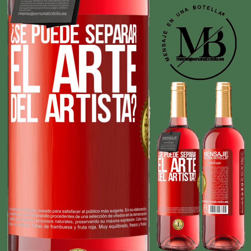 24,95 € Envoi gratuit | Vin rosé Édition ROSÉ pouvez-vous séparer l'art de l'artiste? Étiquette Rouge. Étiquette personnalisable Vin jeune Récolte 2020 Tempranillo