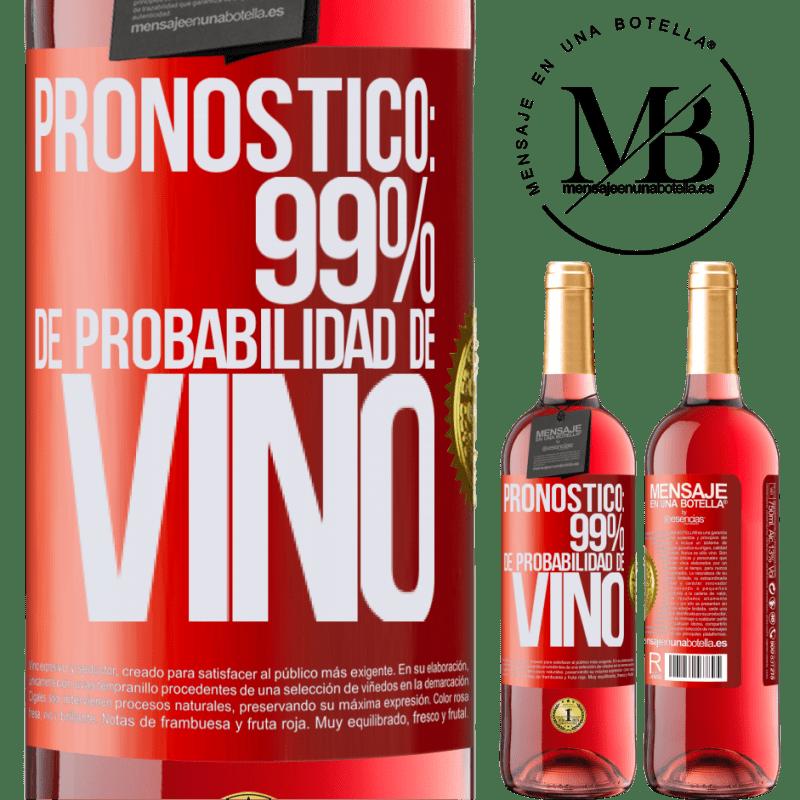 24,95 € Envoi gratuit   Vin rosé Édition ROSÉ Prévision: 99% de chances de vin Étiquette Rouge. Étiquette personnalisable Vin jeune Récolte 2020 Tempranillo