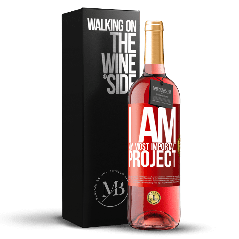 24,95 € Free Shipping   Rosé Wine ROSÉ Edition I am my most important project Red Label. Customizable label Young wine Harvest 2020 Tempranillo