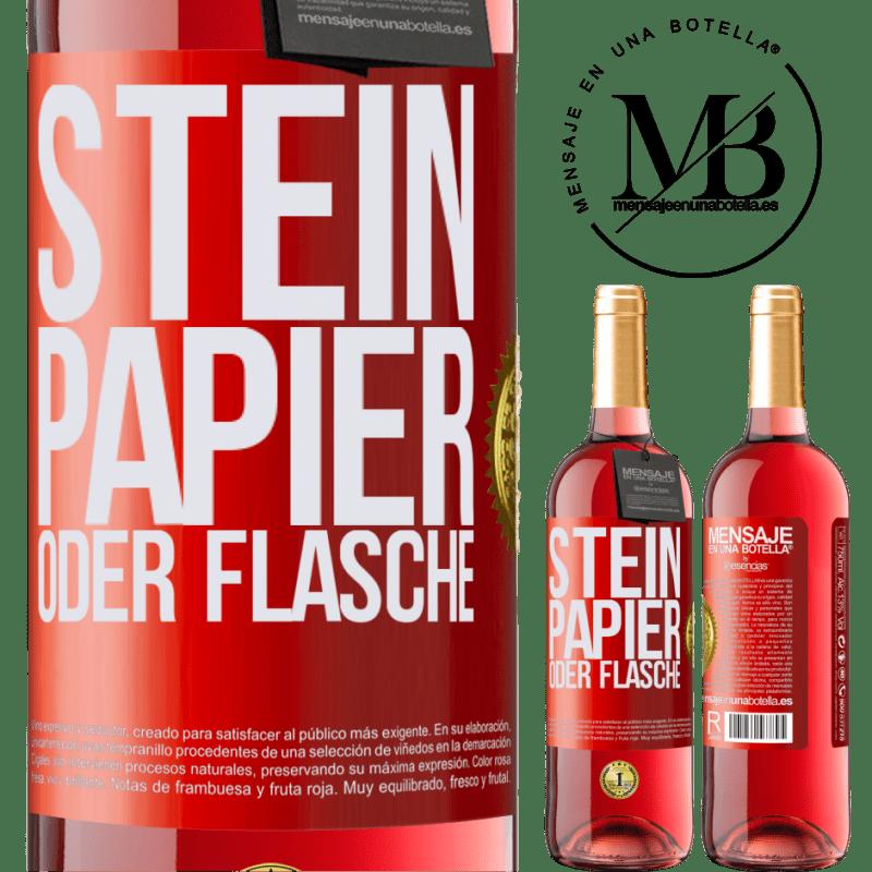 24,95 € Kostenloser Versand | Roséwein ROSÉ Ausgabe Stein, Papier oder Flasche Rote Markierung. Anpassbares Etikett Junger Wein Ernte 2020 Tempranillo