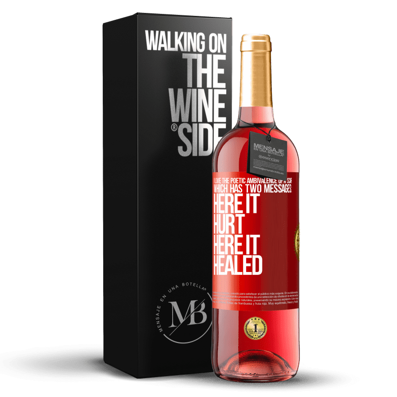 24,95 € Free Shipping | Rosé Wine ROSÉ Edition I love the poetic ambivalence of a scar, which has two messages: here it hurt, here it healed Red Label. Customizable label Young wine Harvest 2020 Tempranillo