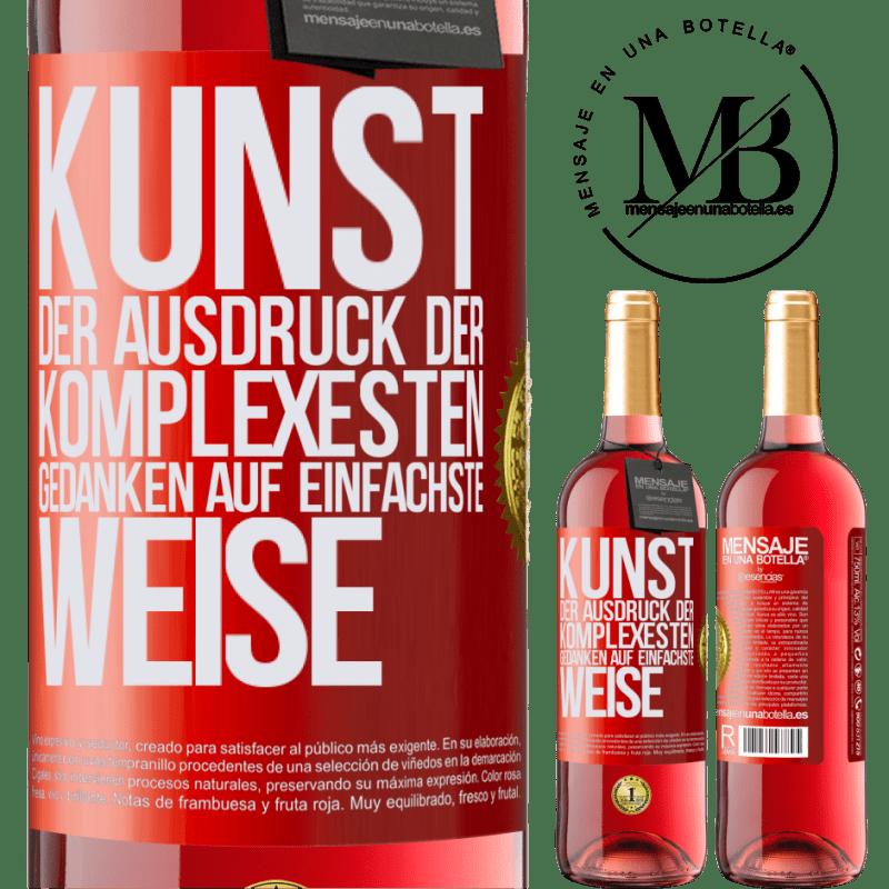 24,95 € Kostenloser Versand   Roséwein ROSÉ Ausgabe KUNST. Der Ausdruck der komplexesten Gedanken auf einfachste Weise Rote Markierung. Anpassbares Etikett Junger Wein Ernte 2020 Tempranillo