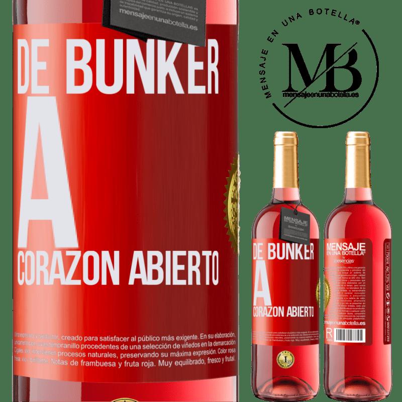 24,95 € Envoi gratuit   Vin rosé Édition ROSÉ Du bunker au cœur ouvert Étiquette Rouge. Étiquette personnalisable Vin jeune Récolte 2020 Tempranillo