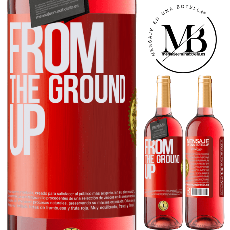 24,95 € Envoi gratuit | Vin rosé Édition ROSÉ From The Ground Up Étiquette Rouge. Étiquette personnalisable Vin jeune Récolte 2020 Tempranillo