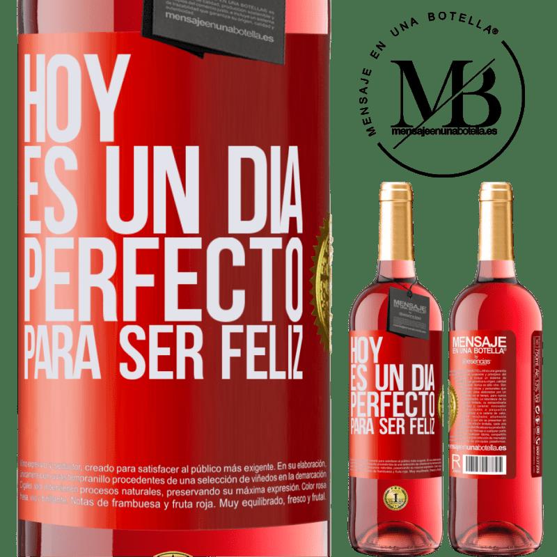 24,95 € Envoi gratuit | Vin rosé Édition ROSÉ Aujourd'hui est une journée parfaite pour être heureux Étiquette Rouge. Étiquette personnalisable Vin jeune Récolte 2020 Tempranillo