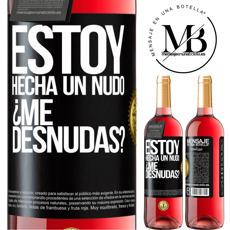 24,95 € Free Shipping   Rosé Wine ROSÉ Edition Estoy hecha un nudo. ¿Me desnudas? Black Label. Customizable label Young wine Harvest 2020 Tempranillo