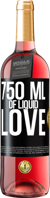 24,95 € | Rosé Wine ROSÉ Edition 750 ml of liquid love Black Label. Customizable label Young wine Harvest 2020 Tempranillo