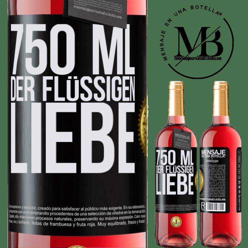 24,95 € Kostenloser Versand | Roséwein ROSÉ Ausgabe 750 ml der flüssigen Liebe Schwarzes Etikett. Anpassbares Etikett Junger Wein Ernte 2020 Tempranillo