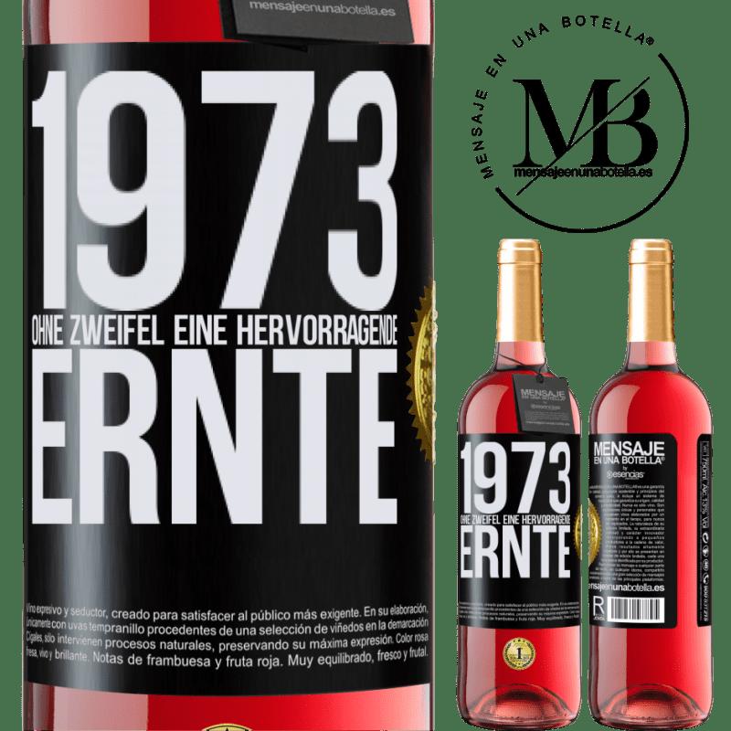 24,95 € Kostenloser Versand | Roséwein ROSÉ Ausgabe 1973. Ohne Zweifel eine hervorragende Ernte Schwarzes Etikett. Anpassbares Etikett Junger Wein Ernte 2020 Tempranillo