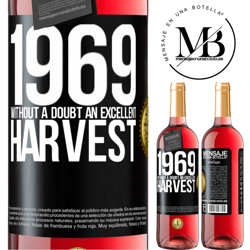24,95 € Free Shipping | Rosé Wine ROSÉ Edition 1969. Without a doubt, an excellent harvest Black Label. Customizable label Young wine Harvest 2020 Tempranillo