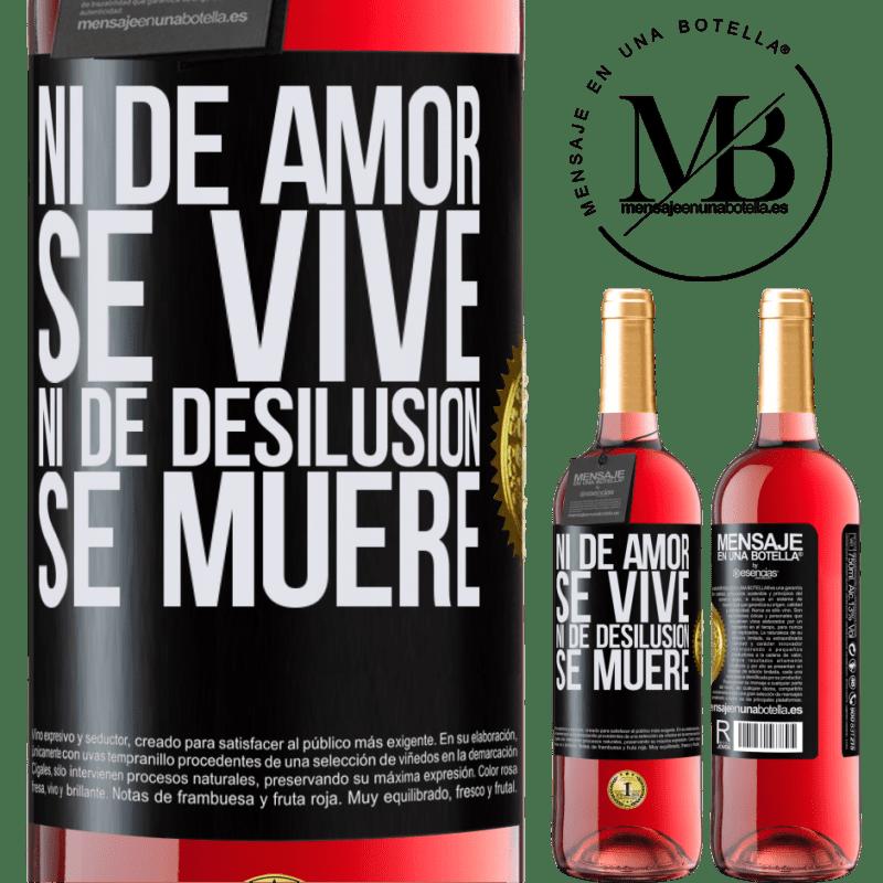 24,95 € Envoi gratuit | Vin rosé Édition ROSÉ Ni l'amour ne vit, ni la déception ne meurt Étiquette Noire. Étiquette personnalisable Vin jeune Récolte 2020 Tempranillo