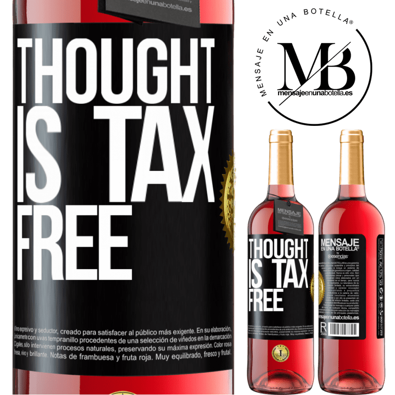24,95 € Free Shipping   Rosé Wine ROSÉ Edition Thought is tax free Black Label. Customizable label Young wine Harvest 2020 Tempranillo