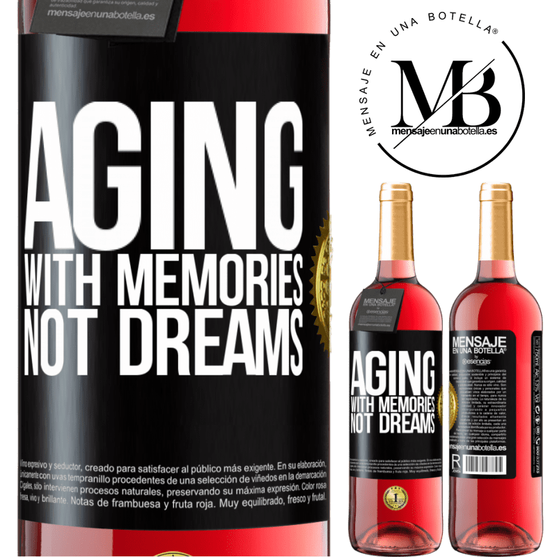 24,95 € Free Shipping | Rosé Wine ROSÉ Edition Aging with memories, not dreams Black Label. Customizable label Young wine Harvest 2020 Tempranillo