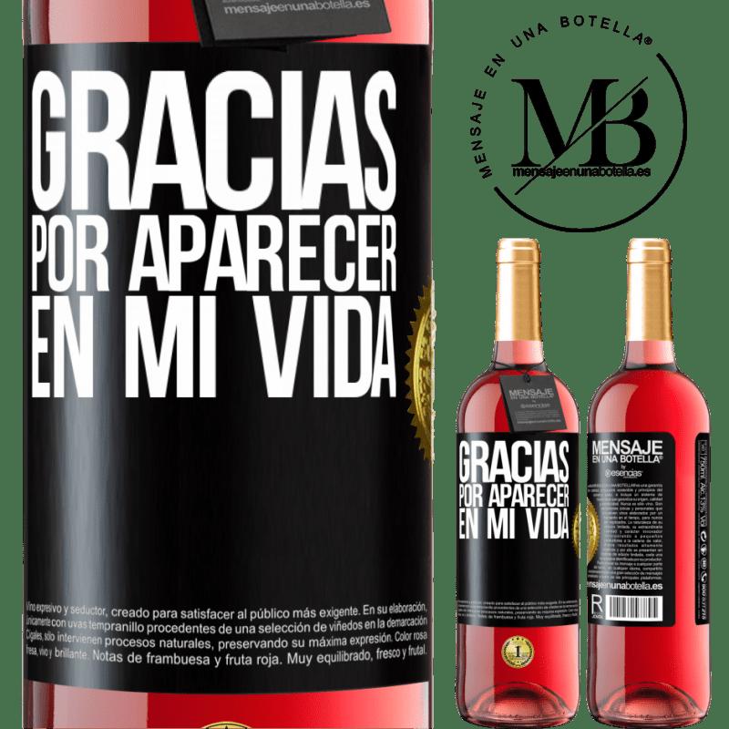 24,95 € Envoi gratuit | Vin rosé Édition ROSÉ Merci d'être venu dans ma vie Étiquette Noire. Étiquette personnalisable Vin jeune Récolte 2020 Tempranillo