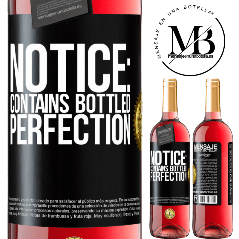 24,95 € Free Shipping   Rosé Wine ROSÉ Edition Notice: contains bottled perfection Black Label. Customizable label Young wine Harvest 2020 Tempranillo