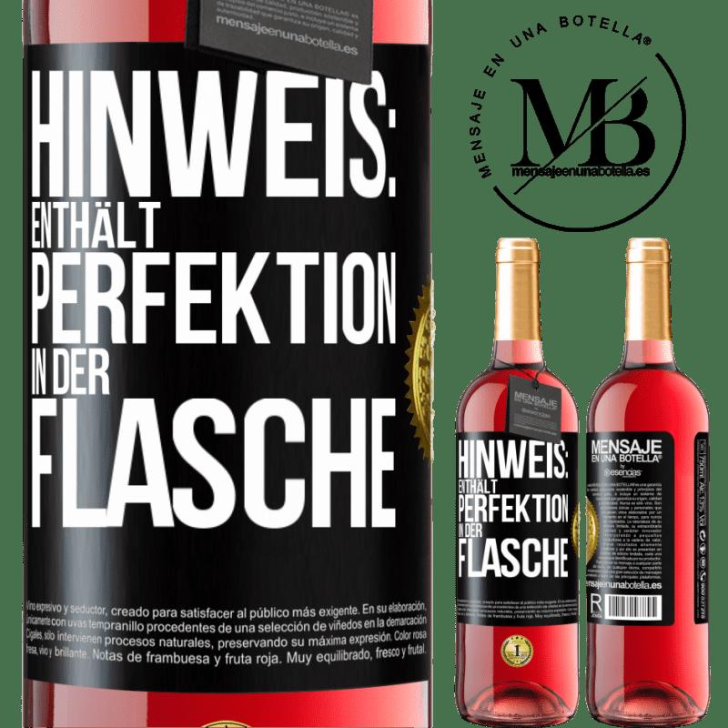 24,95 € Kostenloser Versand | Roséwein ROSÉ Ausgabe Hinweis: Enthält Perfektion in Flaschen Schwarzes Etikett. Anpassbares Etikett Junger Wein Ernte 2020 Tempranillo