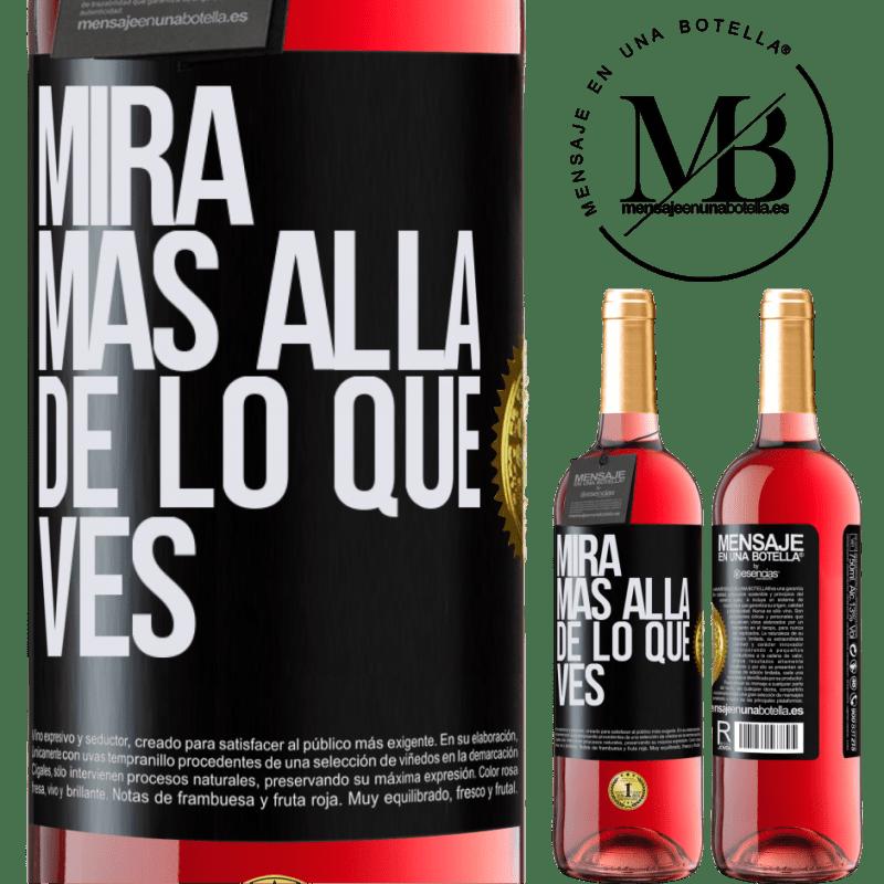 24,95 € Envoi gratuit   Vin rosé Édition ROSÉ Regardez au-delà de ce que vous voyez Étiquette Noire. Étiquette personnalisable Vin jeune Récolte 2020 Tempranillo