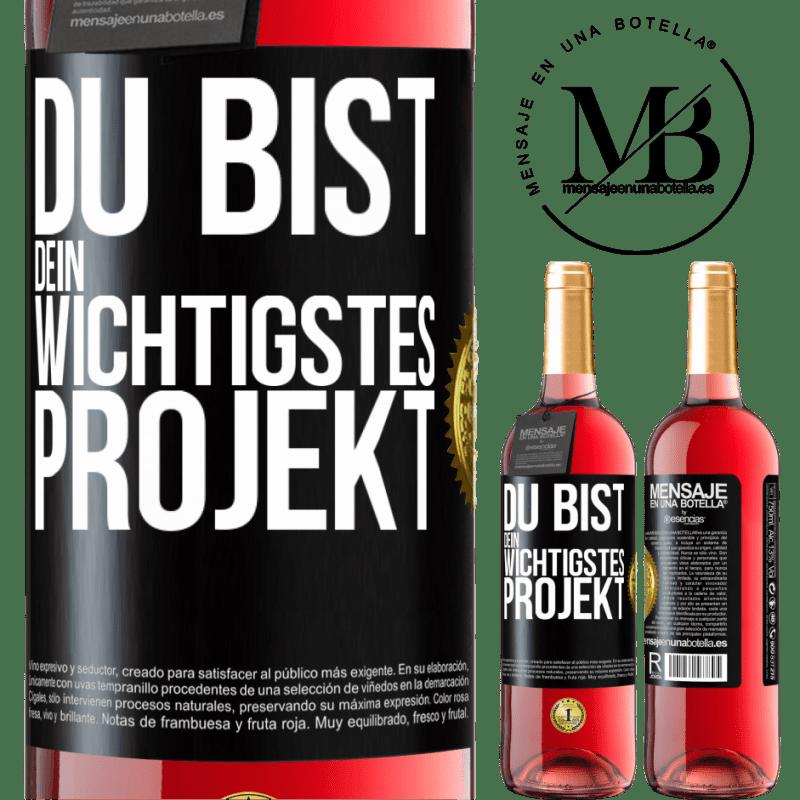 24,95 € Kostenloser Versand | Roséwein ROSÉ Ausgabe Sie sind Ihr wichtigstes Projekt Schwarzes Etikett. Anpassbares Etikett Junger Wein Ernte 2020 Tempranillo