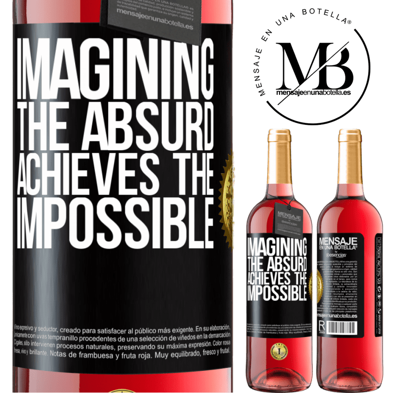 24,95 € Free Shipping | Rosé Wine ROSÉ Edition Imagining the absurd achieves the impossible Black Label. Customizable label Young wine Harvest 2020 Tempranillo