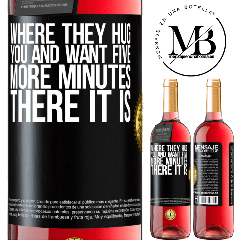 24,95 € Free Shipping   Rosé Wine ROSÉ Edition Where they hug you and want five more minutes, there it is Black Label. Customizable label Young wine Harvest 2020 Tempranillo