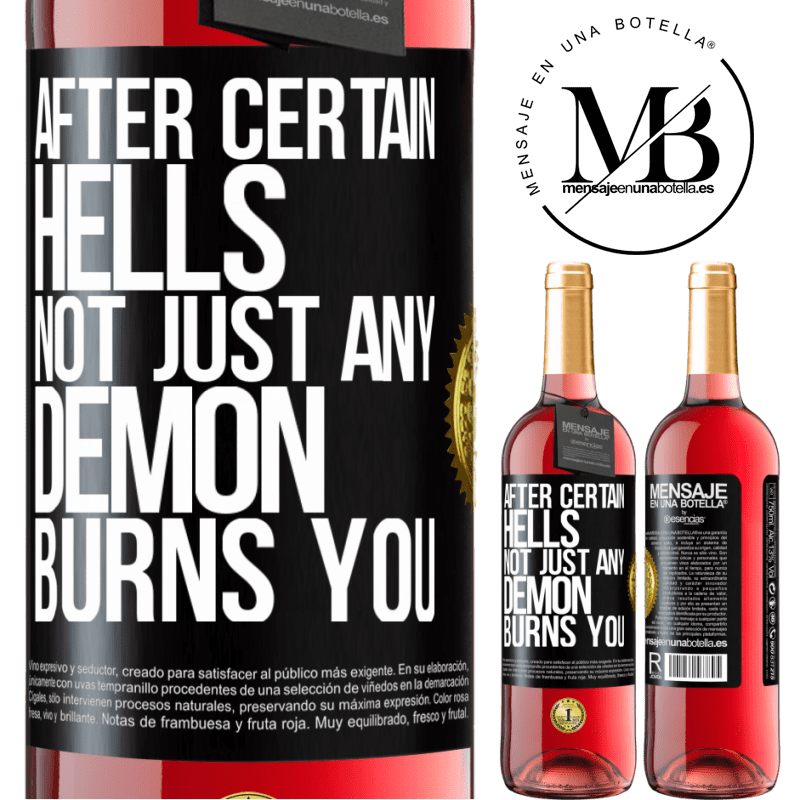 24,95 € Free Shipping   Rosé Wine ROSÉ Edition After certain hells, not just any demon burns you Black Label. Customizable label Young wine Harvest 2020 Tempranillo
