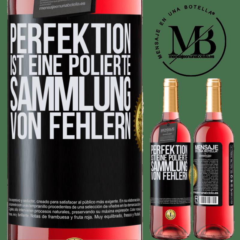 24,95 € Kostenloser Versand | Roséwein ROSÉ Ausgabe Perfektion ist eine polierte Sammlung von Fehlern Schwarzes Etikett. Anpassbares Etikett Junger Wein Ernte 2020 Tempranillo