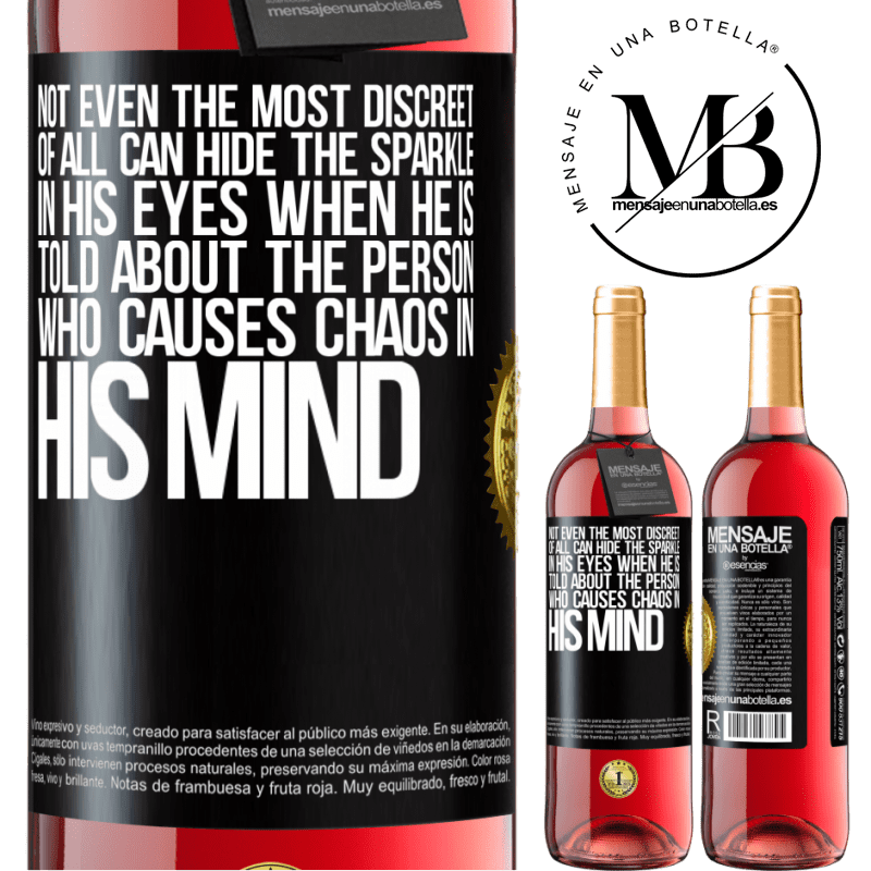 24,95 € Free Shipping   Rosé Wine ROSÉ Edition Not even the most discreet of all can hide the sparkle in his eyes when he is told about the person who causes chaos in his Black Label. Customizable label Young wine Harvest 2020 Tempranillo