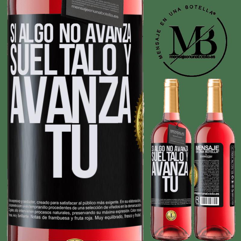 24,95 € Envoi gratuit   Vin rosé Édition ROSÉ Si quelque chose ne progresse pas, relâchez-le et avancez Étiquette Noire. Étiquette personnalisable Vin jeune Récolte 2020 Tempranillo