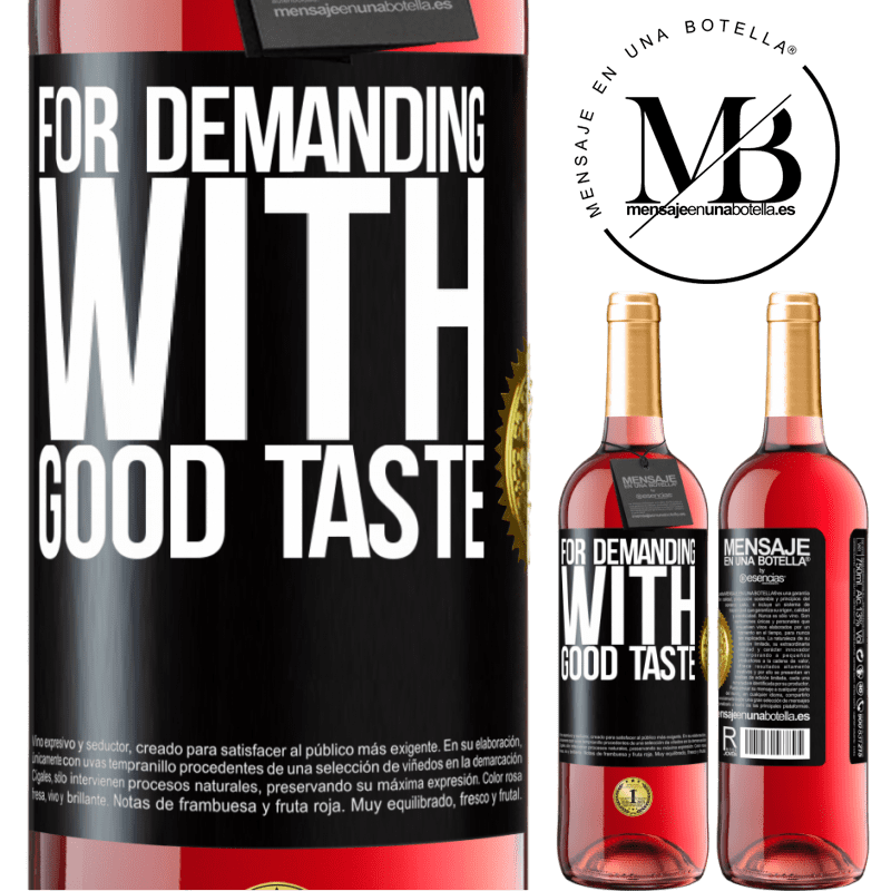 24,95 € Free Shipping   Rosé Wine ROSÉ Edition For demanding with good taste Black Label. Customizable label Young wine Harvest 2020 Tempranillo