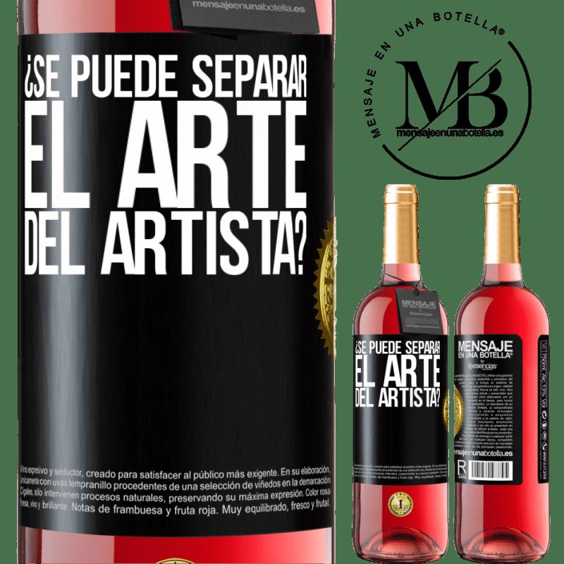 24,95 € Envoi gratuit | Vin rosé Édition ROSÉ pouvez-vous séparer l'art de l'artiste? Étiquette Noire. Étiquette personnalisable Vin jeune Récolte 2020 Tempranillo