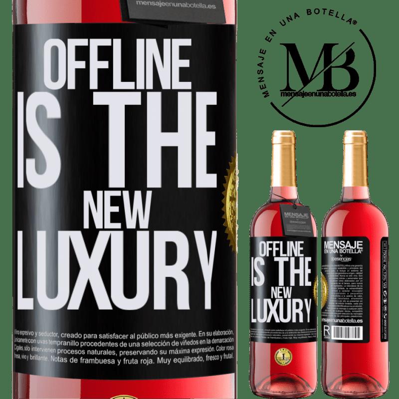 24,95 € Envoi gratuit | Vin rosé Édition ROSÉ Offline is the new luxury Étiquette Noire. Étiquette personnalisable Vin jeune Récolte 2020 Tempranillo