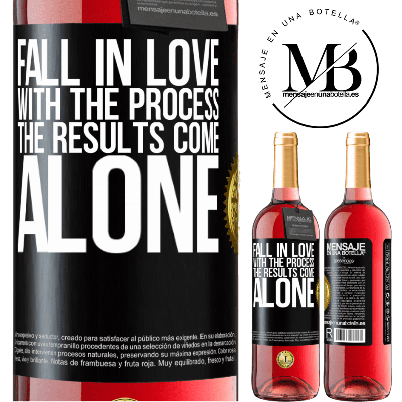 24,95 € Free Shipping | Rosé Wine ROSÉ Edition Fall in love with the process, the results come alone Black Label. Customizable label Young wine Harvest 2020 Tempranillo