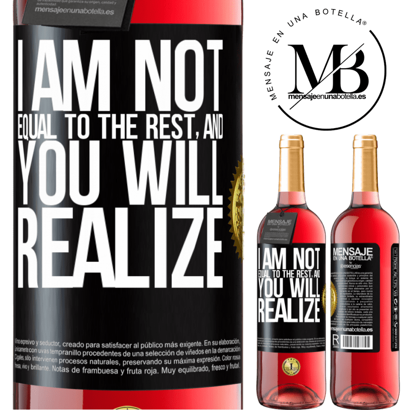 24,95 € Free Shipping | Rosé Wine ROSÉ Edition I am not equal to the rest, and you will realize Black Label. Customizable label Young wine Harvest 2020 Tempranillo