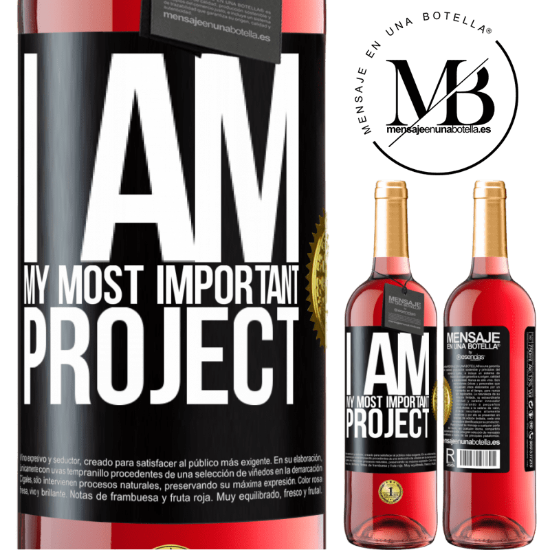 24,95 € Free Shipping   Rosé Wine ROSÉ Edition I am my most important project Black Label. Customizable label Young wine Harvest 2020 Tempranillo