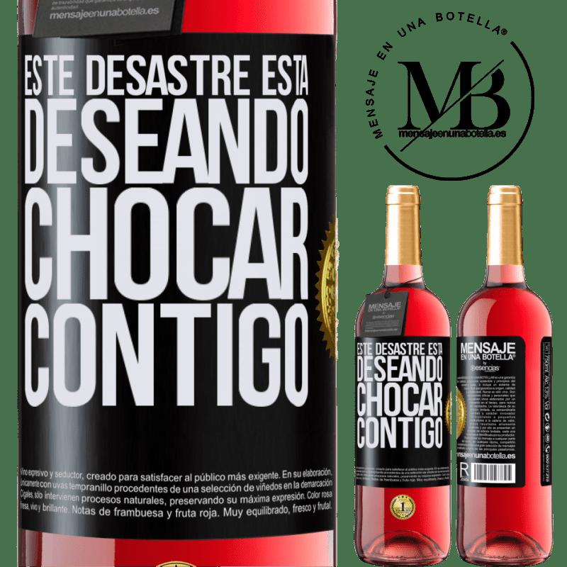24,95 € Envoi gratuit   Vin rosé Édition ROSÉ Ce gâchis a hâte de vous croiser Étiquette Noire. Étiquette personnalisable Vin jeune Récolte 2020 Tempranillo