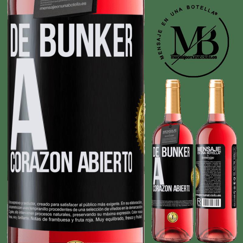 24,95 € Envoi gratuit   Vin rosé Édition ROSÉ Du bunker au cœur ouvert Étiquette Noire. Étiquette personnalisable Vin jeune Récolte 2020 Tempranillo